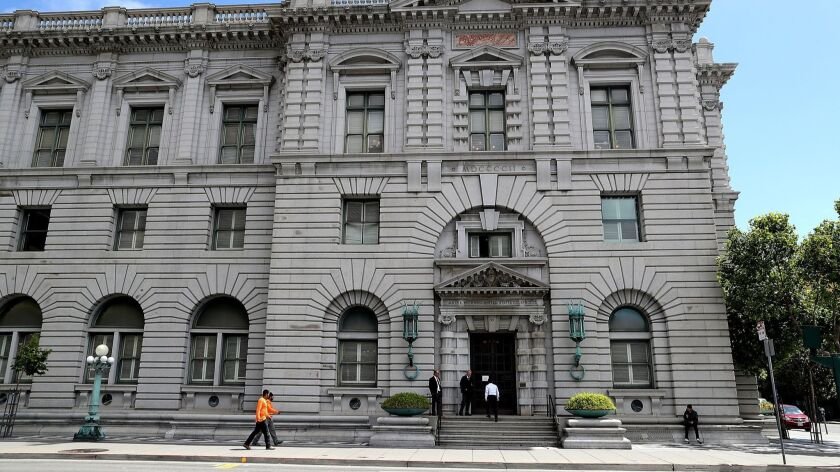 """A panel of the U.S. 9th Circuit Court of Appeals has made it easier for people caught up in """"reverse stings"""" to seek evidence that the government targeted blacks and Latinos. Above, the court's San Francisco headquarters."""