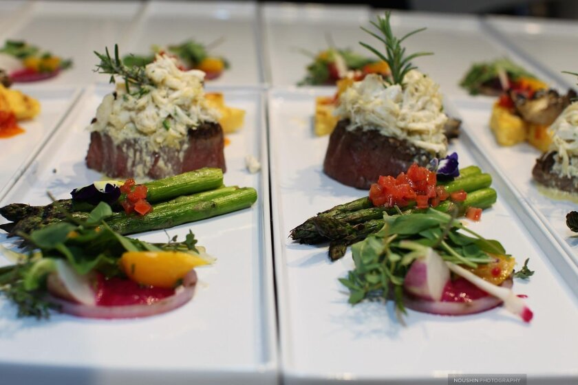 The decadent mosaic-inspired meal and plating executed onsite by Chef Indo