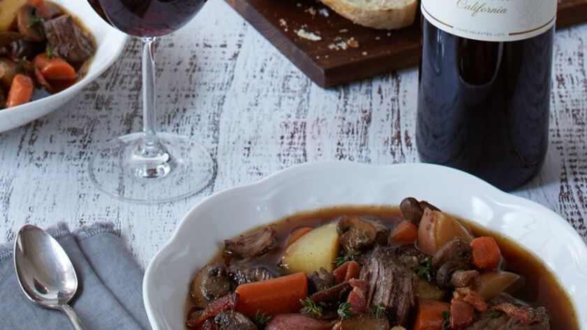 Slow Cooker Boeuf Bourguignon from Clos du Bois winery.