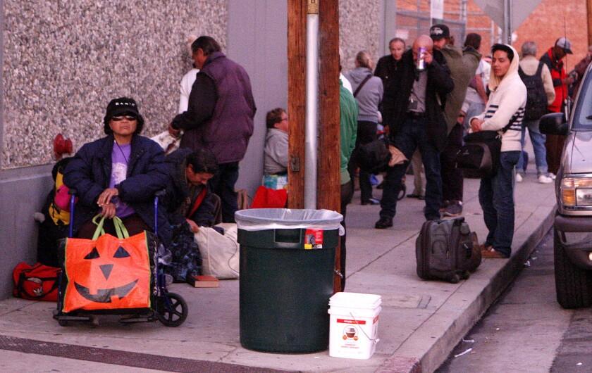 homeless people in glendale