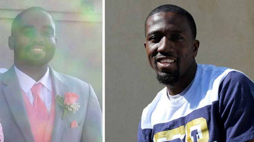 Astin Edwards, left, and Robert Meekins, both 28, were fatally shot Friday at the Gable House Bowl in Torrance.