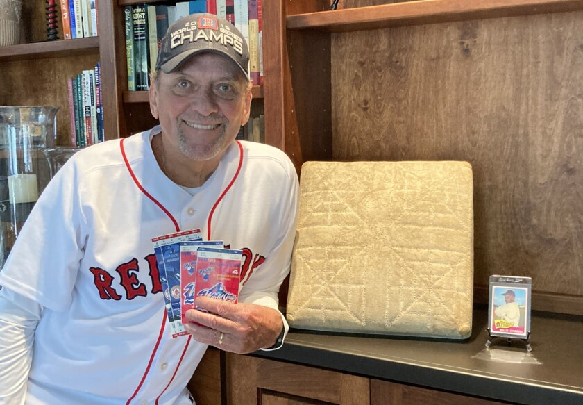 John Nichols has tickets to show for attending the 1998 and 2004 World Series — and second base from the 1979 World Series.