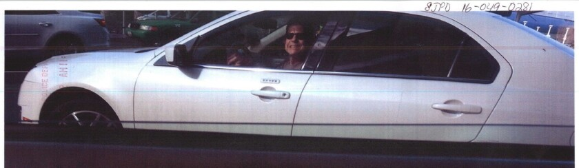 Police are looking for a man with an Uber sticker on his Mercedes who allegedly assaulted a man after being confronted about speeding through Mineta San Jose International Airport and then smiled as he drove away.