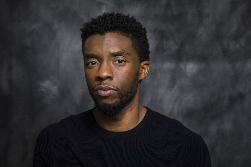 Actor Chadwick Boseman in 2018.