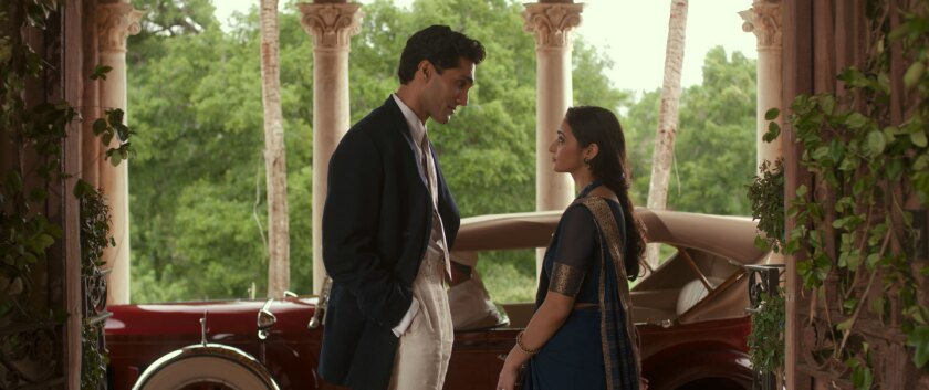 """In the film """"Draupadi Unleashed,"""" Indira (Salena Qureshi) is promised to suave Amar (Dominic Rains). That's not a good thing."""