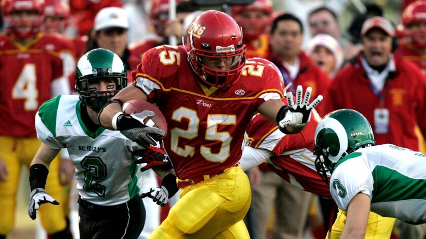 Cathedral Catholic's Tyler Gaffney finished his high school career with 5,547 yards and 99 TDs.