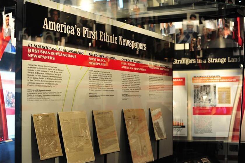Vista de una exposición en el museo Newseum de Washington. EFE/Archivo