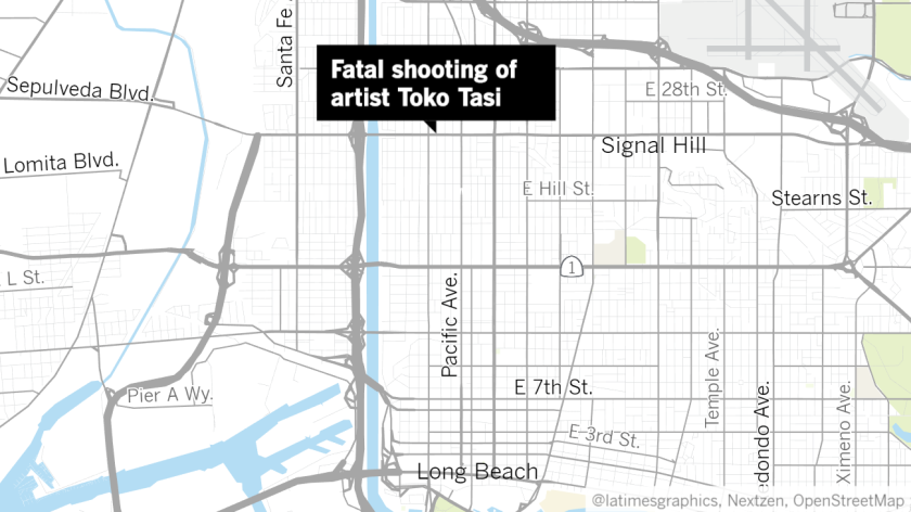 Long Beach hip-hop artist Toko Tasi was shot and killed near West Willow Street and Eucalyptus Avenue on Saturday night, police and fans said.