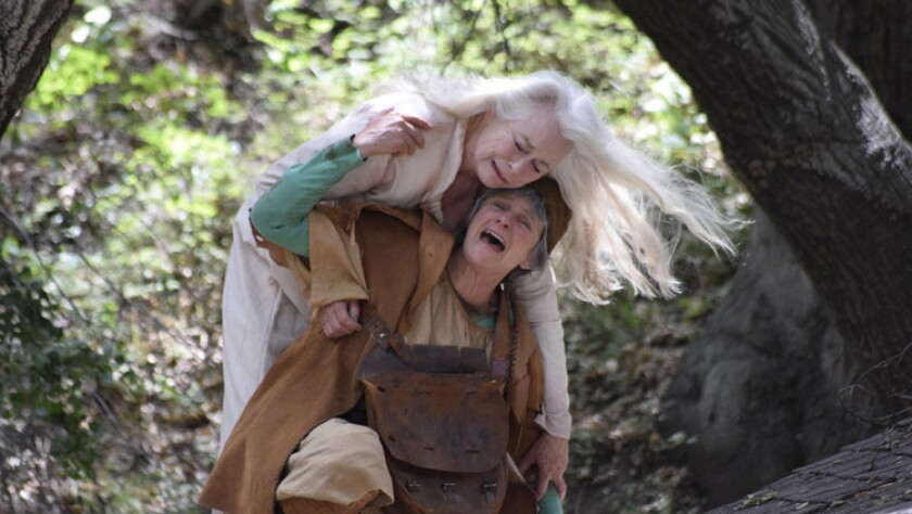 """Ellen Geer, top, and Melora Marshall in """"Lear"""""""