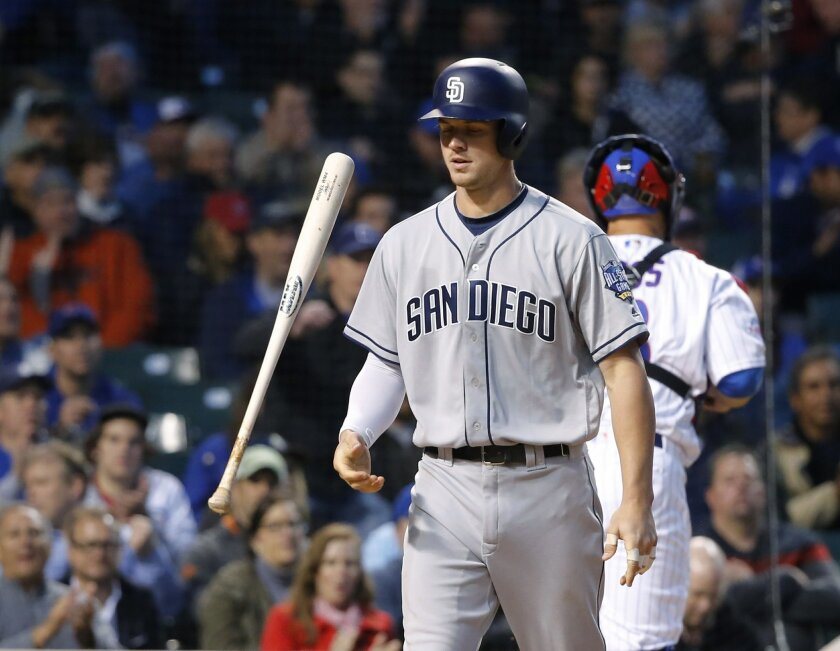 Wil Myers scratched with left forearm tightness, Padres lose finale