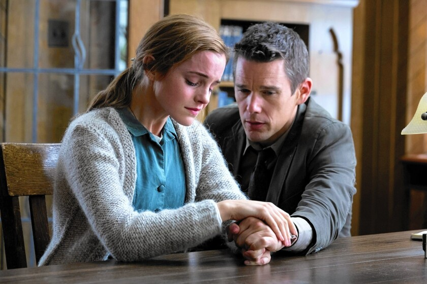Emma Watson and Ethan Hawke headline the psychological thriller.