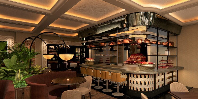 A design rendering of the planned broiler area.