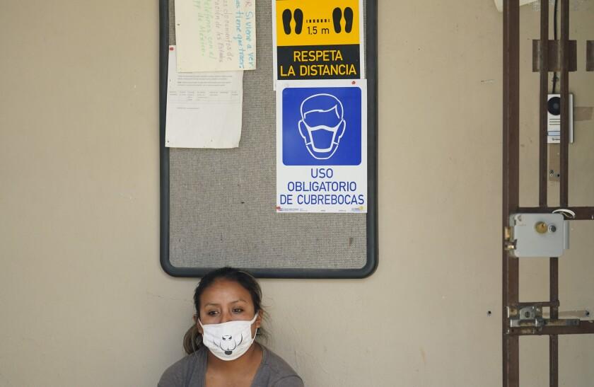 Una solicitante de asilo en Estados Unidos, que vive en un campamento en Matamoros, México