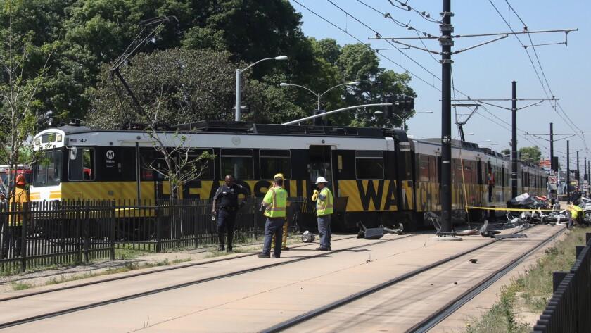 Expo Line train vs. car crash