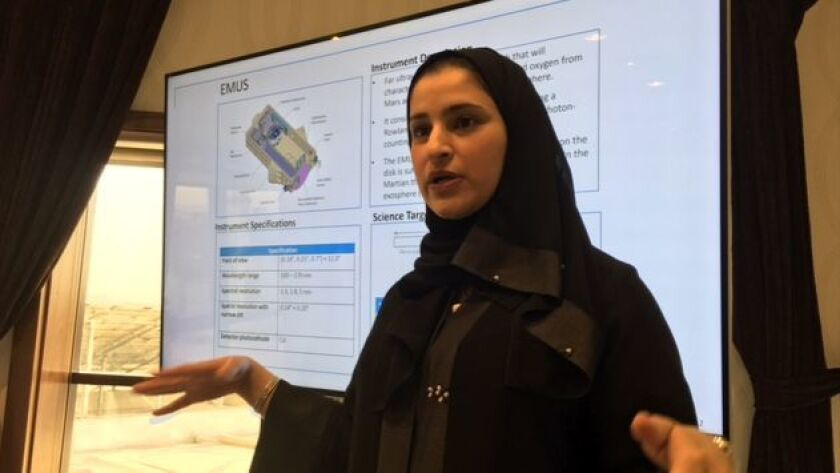 Sarah Amiri, deputy project manager and lead scientist at the Emirates Mars Mission.