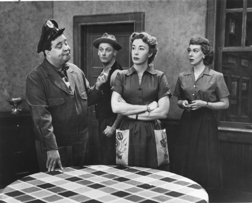 Jackie Gleason, left, Art Carney, Audrey Meadows and Joyce Randolph.