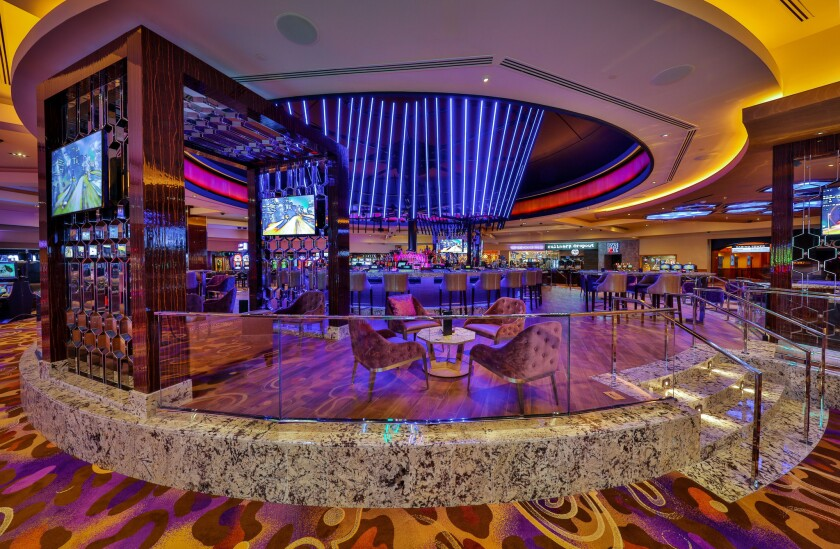 The Hard Rock Hotel's remodeled Center Bar features lights that dance to the music along with great views of the casino floor and a new cocktail menu.