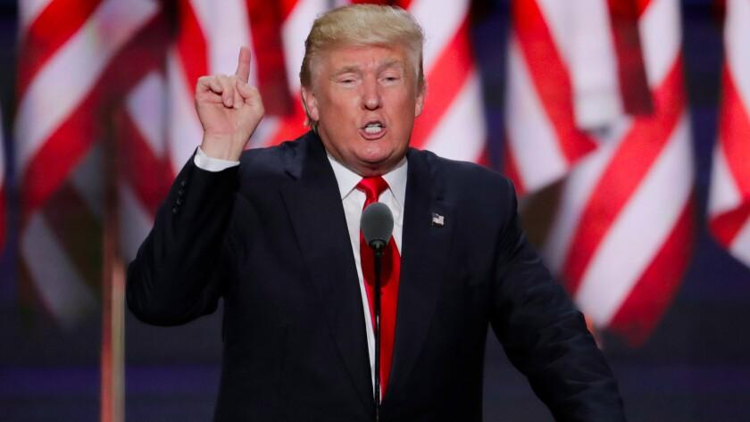 President Trump speaks Wednesday in Washington.