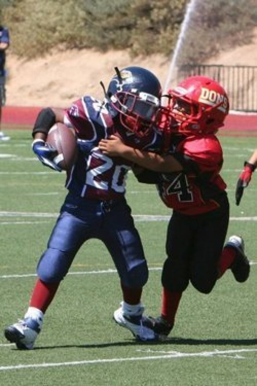 Logan Awana led the Dons' defense in its shutout victory against Steele Canyon