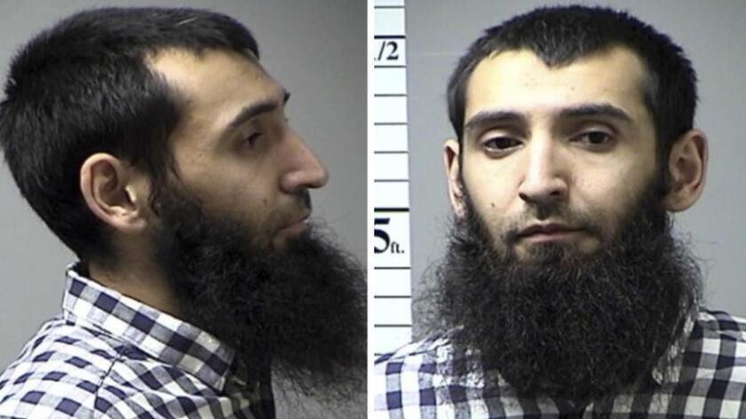 Sayfullo Saipov, el sospechoso del ataque de Nueva York, es mostrado después de un arresto de tráfico en octubre de 2016, en una imagen publicada el miércoles por el Departamento de Correcciones del Condado de St. Charles, Missouri. (EPA / Shutterstock)