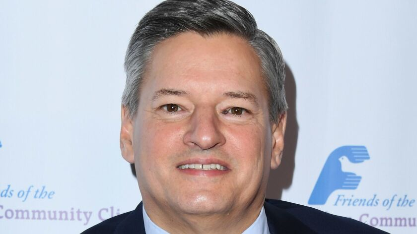 Netflix Chief Content Officer Ted Sarandos at the Friends of the Saban Community Clinic's 42nd annual gala in Beverly Hills in November 2012 .