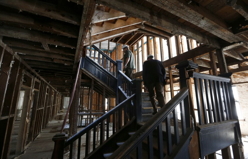 The Panama Hotel on L.A.'s skid row is being converted from transitional housing with 220 rooms to apartments for 72 permanent residents.