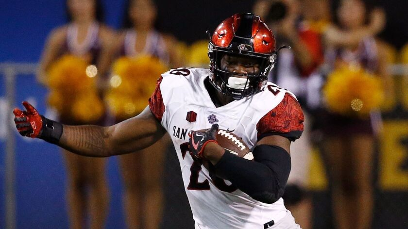 San Diego State running back Rashaad Penny is among 15 semifinalists for the Walter Camp Award, which recognizes the nation's most outstanding college football player.