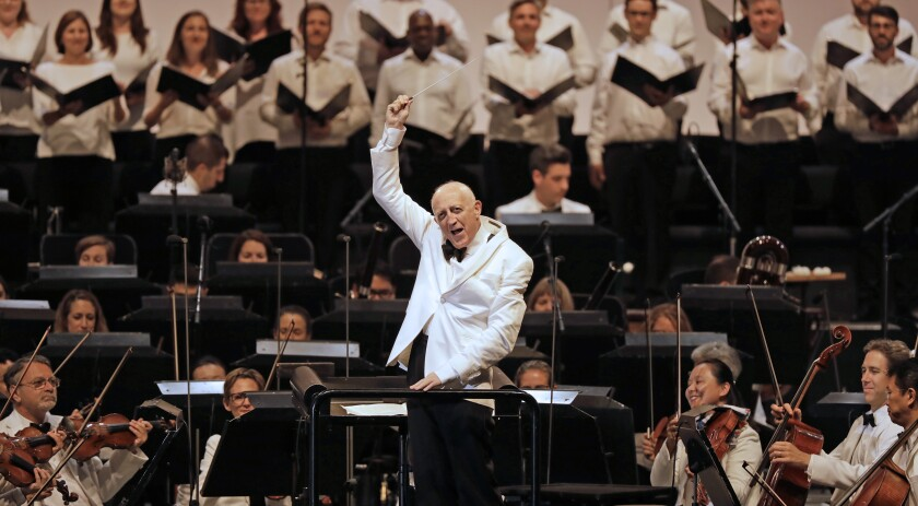 Bramwell Tovey at the Hollywood Bowl on Tuesday.