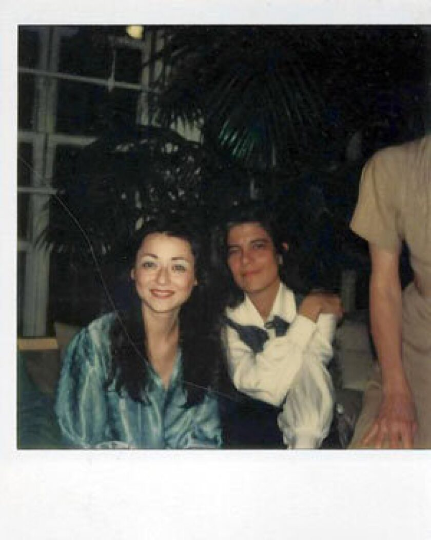 Polaroid photo of Sigrid Nunez, left, and Susan Sontag.
