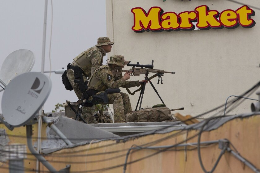 SWAT snipers from San Diego Police Department.