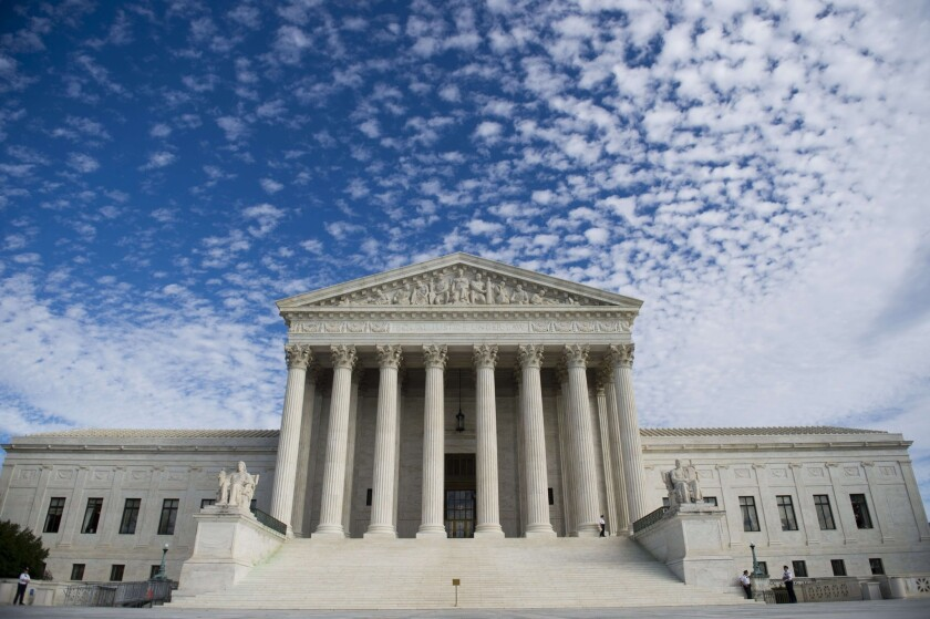 Supreme Court building in Washington.