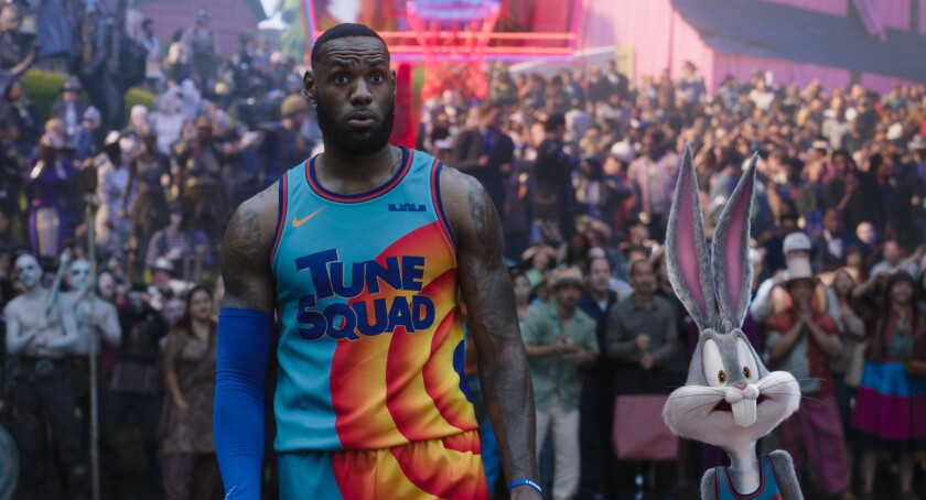 """LeBron James and Bugs Bunny in the movie """"Space Jam: A New Legacy."""""""