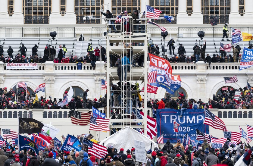 UNITED STATES - JANUARY 6: Trump supporters occupy the West Front of the Capitol.