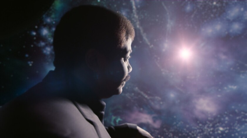 """Host Neil deGrasse Tyson travels faster than the speed of light in the Ship of the Imagination in """"Cosmos: A Spacetime Odyssey."""""""