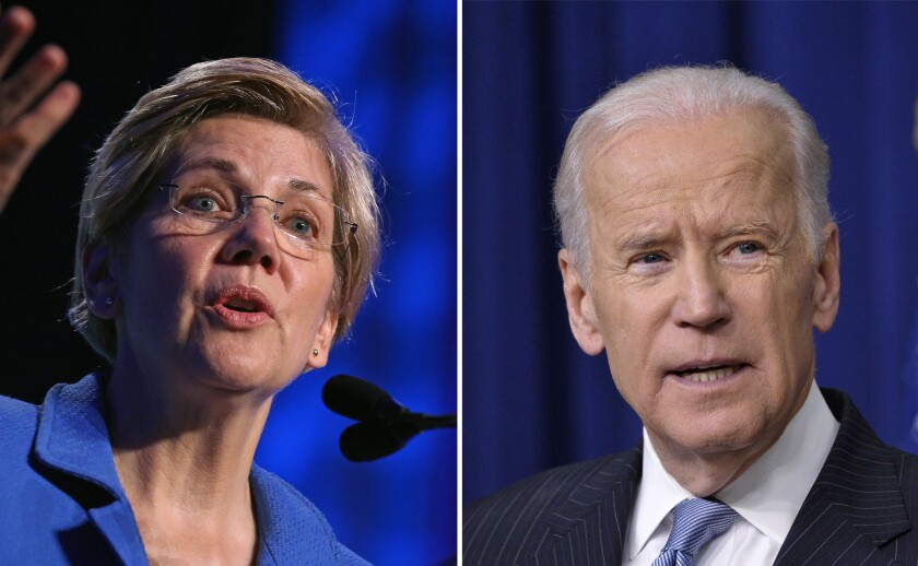 Warren and Biden