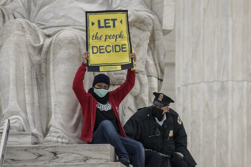 Video image of U.S. Senate vote to advance the nomination of Supreme Court nominee Amy Coney Barrett