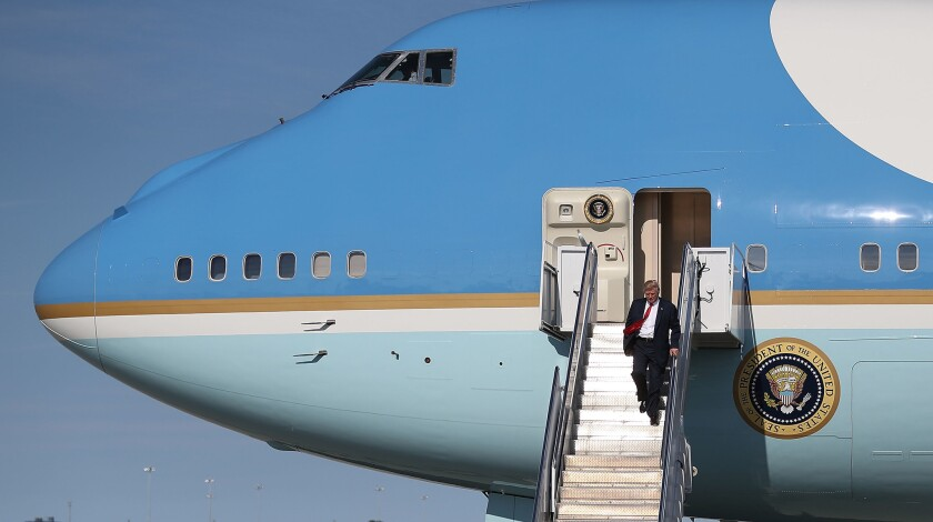 Donald Trump Arrives In West Palm Beach For Presidents Day Weekend
