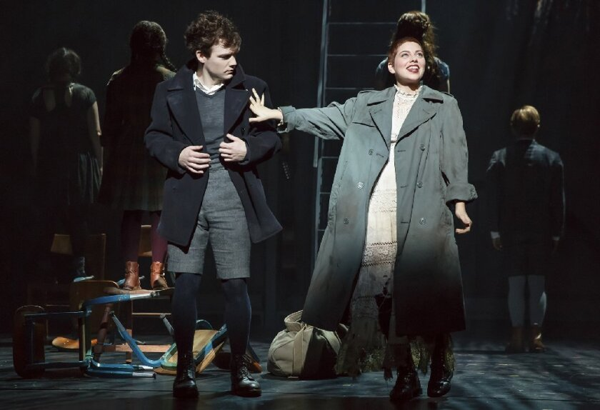 "Daniel N. Durant, left, and Krysta Rodriguez in ""Spring Awakening"" in New York."