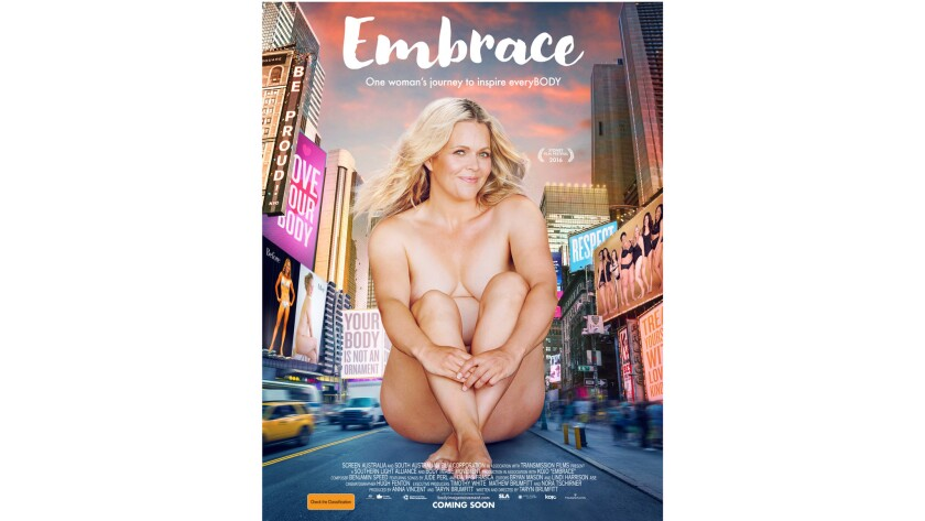 """""""Embrace,"""" the movie poster."""