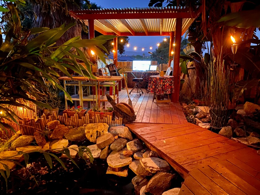 The Armstrong-Corey backyard was originally planted by a horticulturist from San Diego Zoo Safari Park.