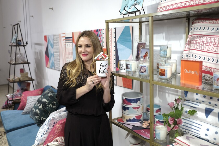 Drew Barrymore Launches Shutterfly Holiday Gift Collection.