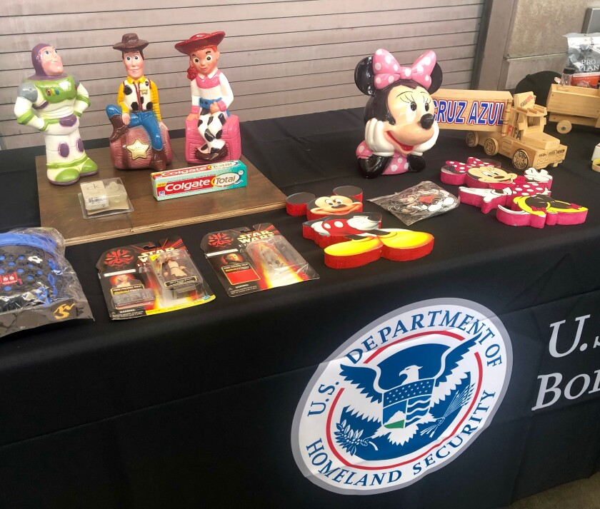 Products seized at the border