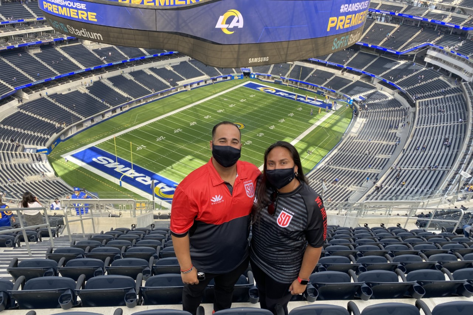Rams fans Alfredo and Whitney Lopez