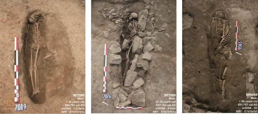 Shown are the oldest known Muslim graves in France, according to a new study. The finding suggests a Muslim community was established in Nimes, France, between the 8th and 9th centuries.