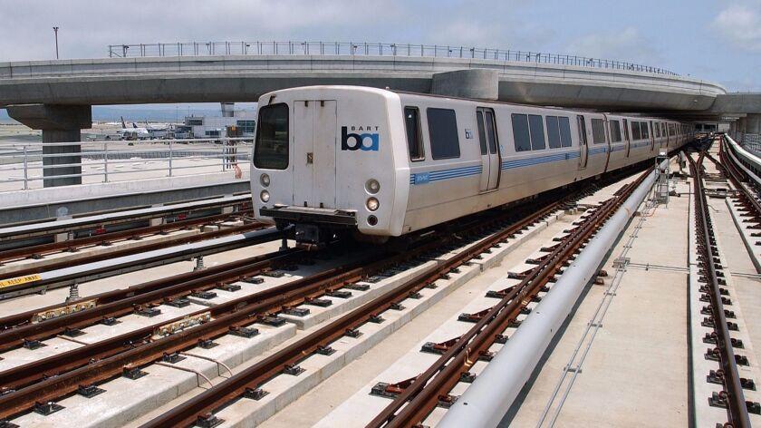 A BART train in 2003.