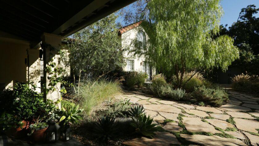 BEL AIR, CA-NOVEMBER 2, 2018: the garden of Amy Lippman and Rodman Flender. Lippman is the writer pr