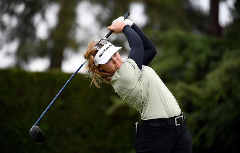 Brooke Henderson shot a four-under 67 in the final round Saturday to win by one in the HUGEL Air Premia LA Open.