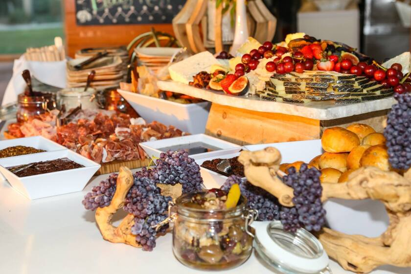 Charcuterie and cheeses from Giuseppe Restaurants & Fine Catering.