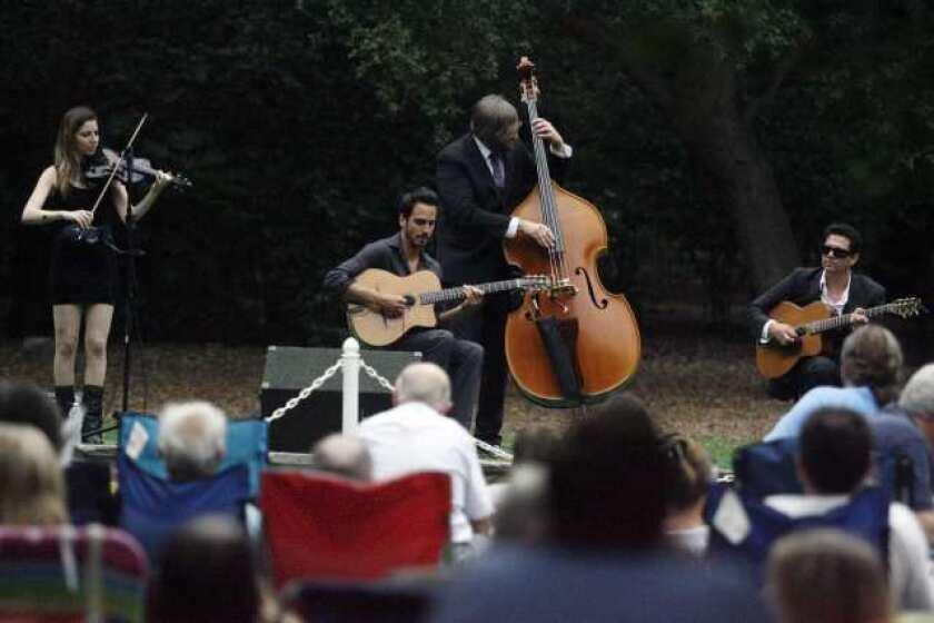 Jazz fills Descanso Gardens