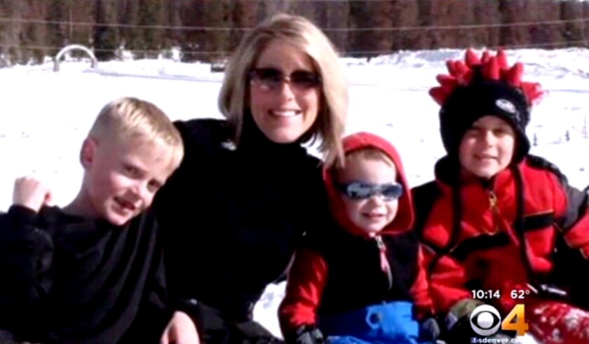 Kristine Kirk and her children in an undated photo. Kristine's parents and sister are now legal guardians of the children.